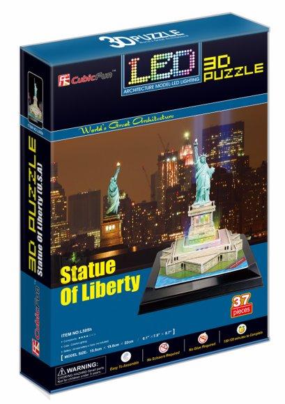 CubicFun 3D pusle Statue of Liberty LED