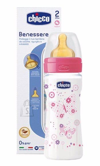 Chicco lutipudel Well Being 250 ml, roosa