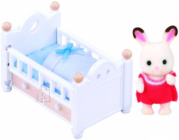 Sylvanian Families mänguloom jänku ja voodi