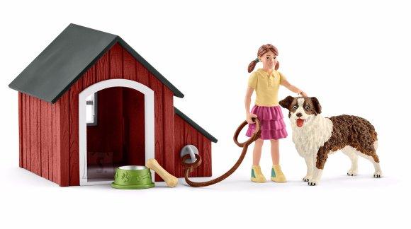 Schleich Farm World tüdruk koera ja kuudiga