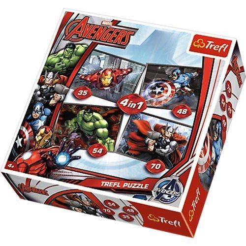 Trefl pusle komplekt Avengers 4in1 207tk