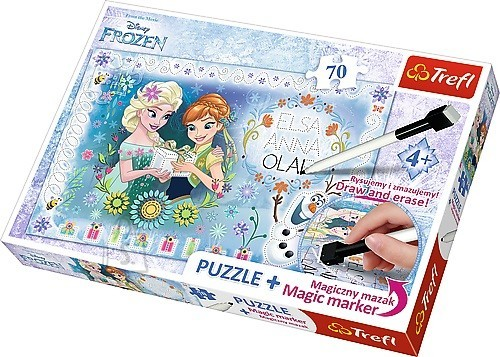 Trefl pusle Frozen 70tk + marker