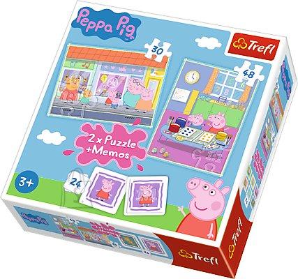 Trefl pusle komplekt Peppa Pig 78tk, 24 memokaarti