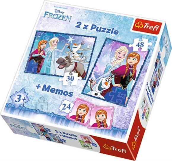 Trefl pusle komplekt Frozen 78tk+24 memokaarti