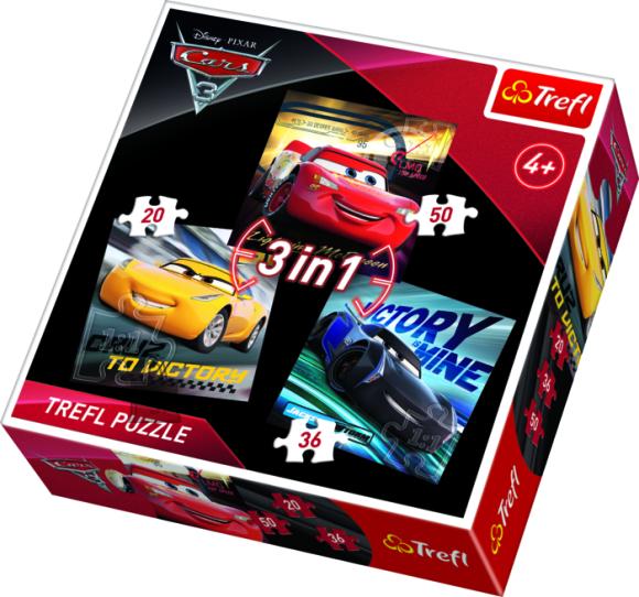 Trefl pusle Cars 3 in1