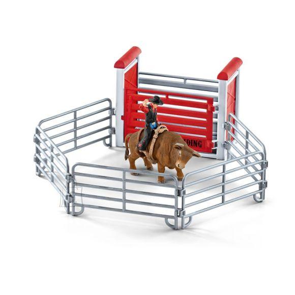Schleich Farm World kauboi härja seljas