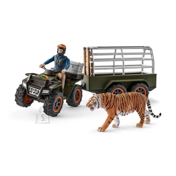 Schleich Farm World ATV koos haagise ja looduskaitsjaga