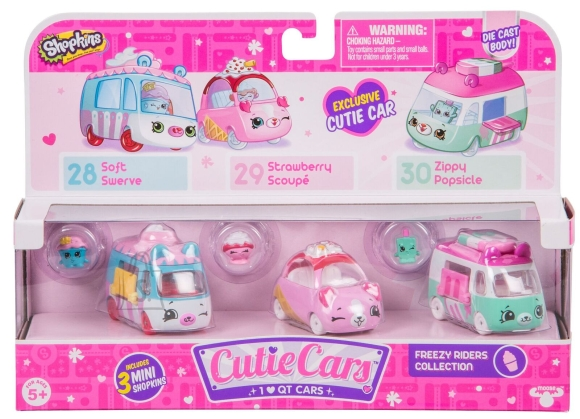 Shopkins Moose Cutie Cars Shopkinsite autokomplekt (Seeria 1)