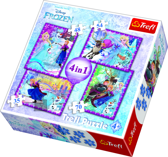 Trefl TREFL Pusle komplekt Frozen (4 in 1)