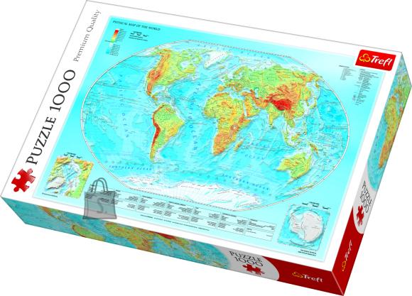 Trefl pusle Maailmakaart 1000tk