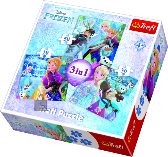 Trefl pusle komplekt Frozen 3in1
