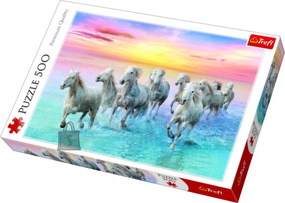 Trefl pusle Valged hobused 500tk
