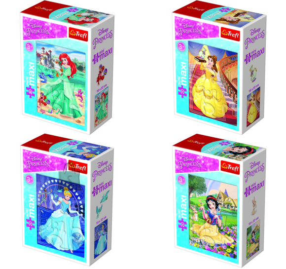 Trefl mini pusle Disney Princess 20tk
