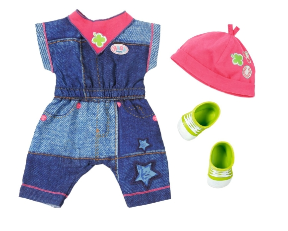 Baby Born Zapf nuku riidekomplekt (teksapüksid)