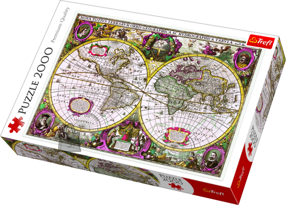 Trefl pusle Maailmakaart 2000tk