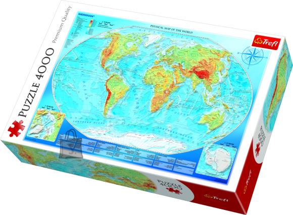Trefl Pusle Maailmakaart 4000tk
