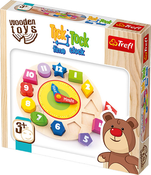 Trefl Wooden Toys ajanäitaja Tik Tak
