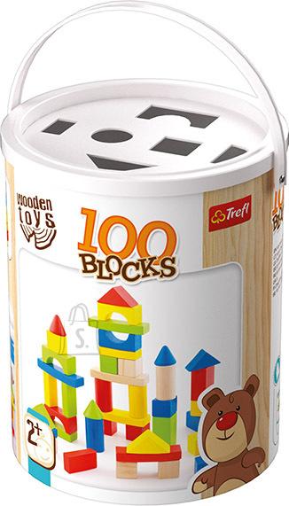 Trefl Wooden Toys 100 klotsi