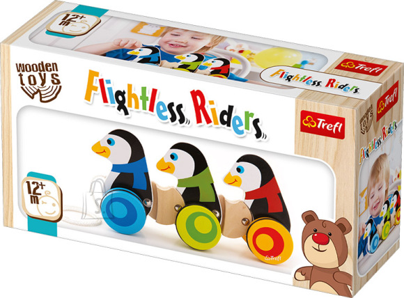 Trefl Wooden Toys ratestega pingviinid
