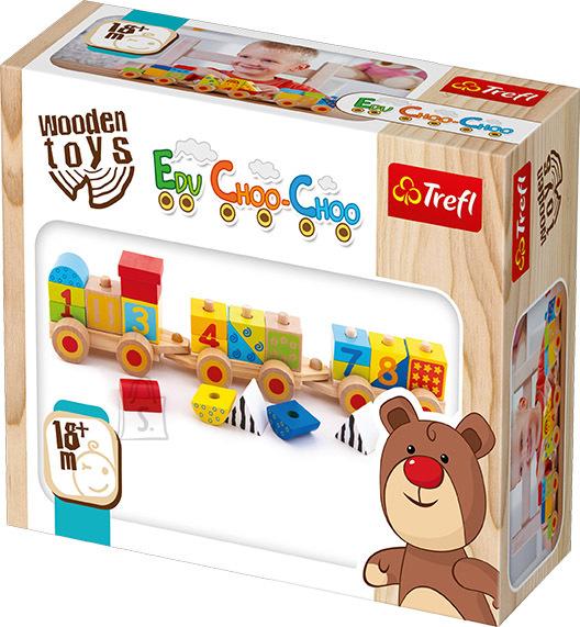 Trefl Wooden toys õpirong Tšuh-Tšuh