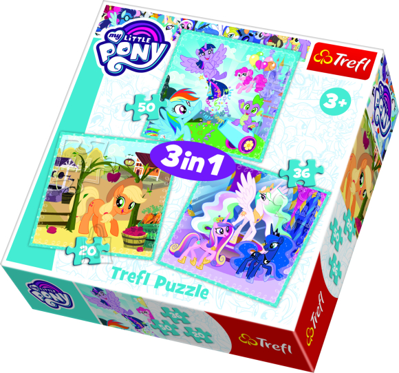 Trefl TREFL Pusle komplekt My Little Pony (3 in 1)