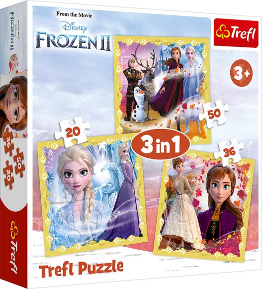 Trefl TREFL Pusle komplekt Frozen 2 (3 in 1)