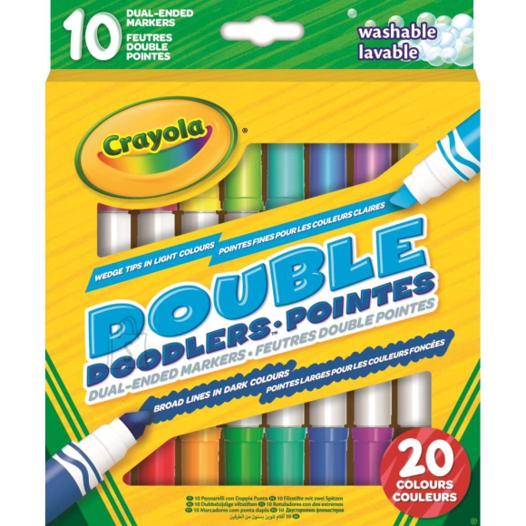 Crayola CRAYOLA 10 kaheotsalist pestavat markerit