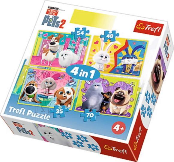 TREFL Puslekomplekt 4 Lemmikloomade salajane elu 2