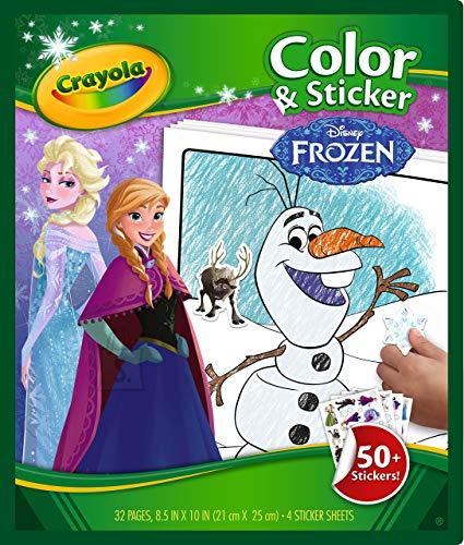 Crayola CRAYOLA FROZEN Värvi ja kleepimisraamat