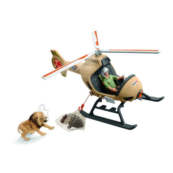 Schleich SCHLEICH Helikopteriga loomade päästmine