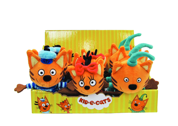 TOY PLUS KID-E-CATS pehme mänguasi 12 cm, 3 asst