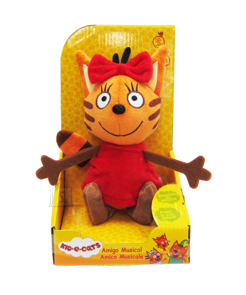 TOY PLUS KID-E-CATS pehme mänguasi muusikaga 20 cm, 3 asst
