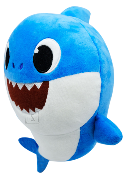 SMART PLAY BABY SHARK Pehme mänguasi Daddy Shark helidega 35 cm