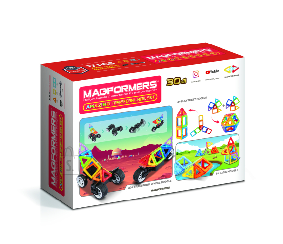 MAGFORMERS Magnetkonstruktori komplekt Amazing Wheel, 17 osa