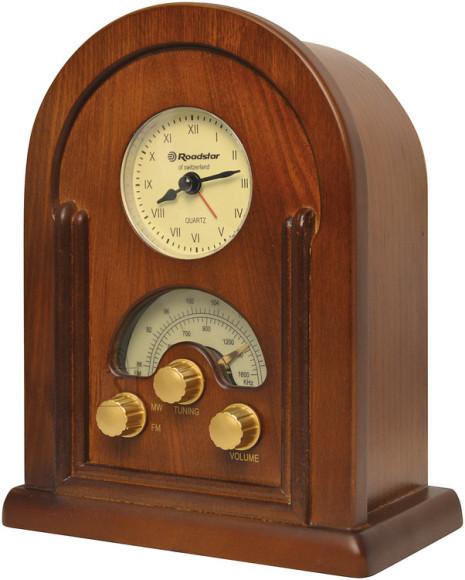 Roadstar HRA-1430 retrostiilis lauaraadio kellaga