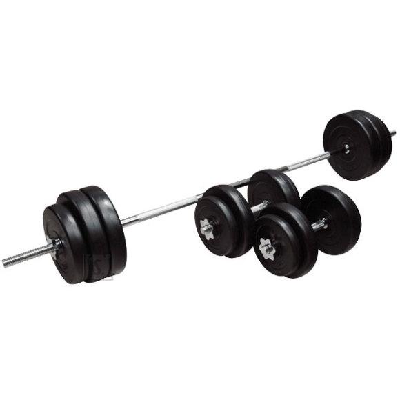 inSPORTline tõstekang koos hantlitega BS08 3-50 kg