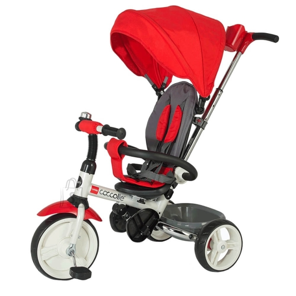 Three-Wheel Stroller/Tricycle with Tow Bar Coccolle Urbio - Red