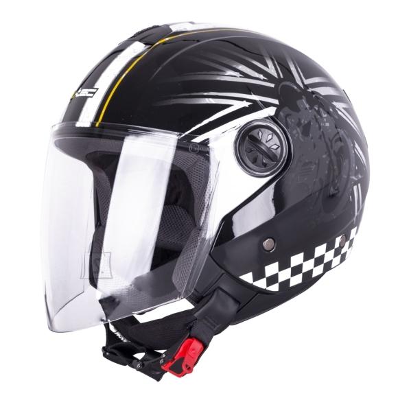 W-Tec Open Face Helmet W-TEC FS-715B Union Black - Black and Graphics XS (53-54)
