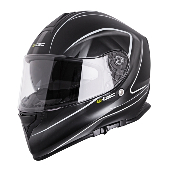 W-Tec Motorcycle Helmet W-TEC V127 - Black and Graphics L(59-60)