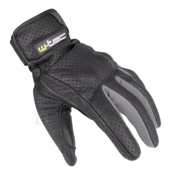 W-Tec Summer Leather Moto Gloves W-TEC Nyarra NF-4150 - Grey S