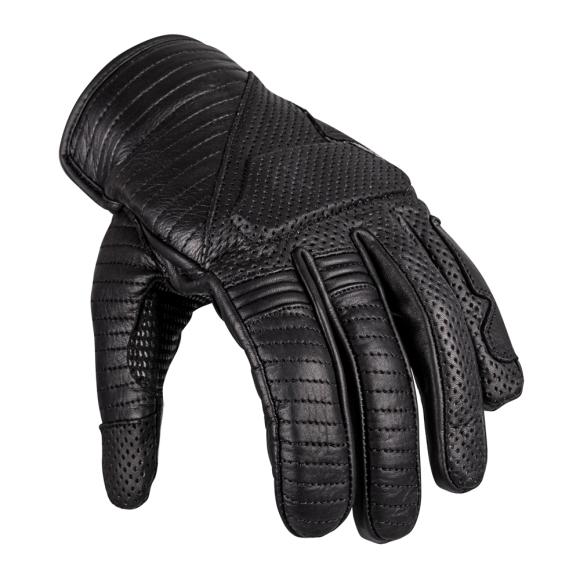 W-Tec Leather Motorcycle Gloves W-TEC Brillanta - Black XXL