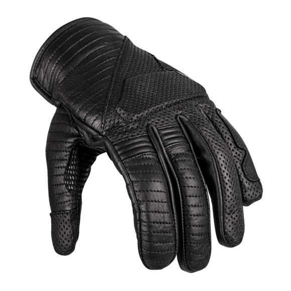 W-Tec Leather Motorcycle Gloves W-TEC Brillanta - Black 3XL