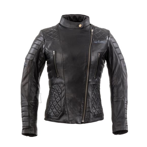 W-Tec Women???s Leather Motorcycle Jacket W-TEC Corallia - XS