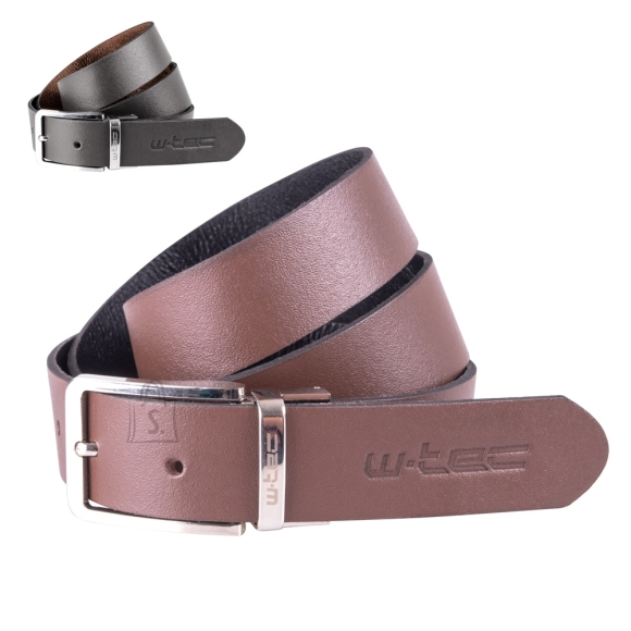 W-Tec Leather Belt W-TEC Machoo - Brown/Black 110 cm
