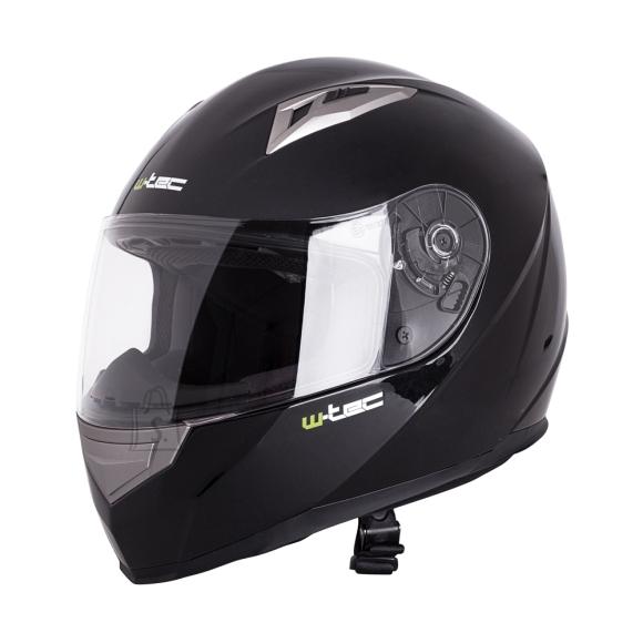 W-Tec Integral Motorcycle Helmet W-TEC V158 - Black L(59-60)