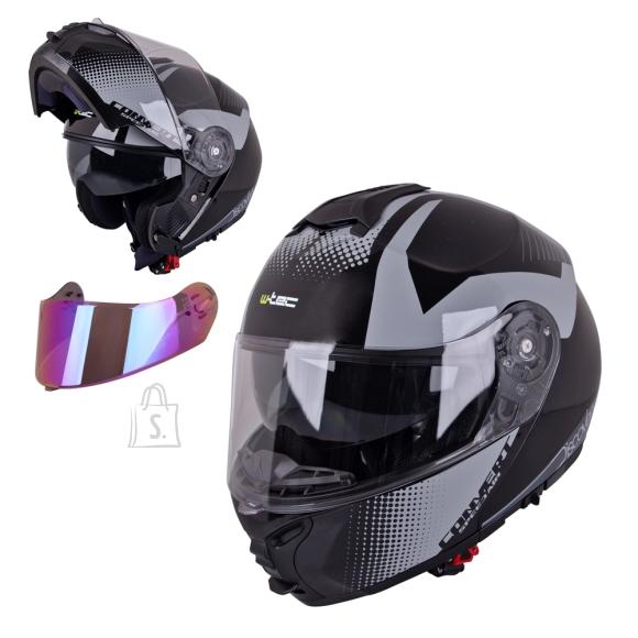W-Tec Flip-Up Motorcycle Helmet W-TEC FS-907 P/J - Gunmetal Antracite S(55-56)