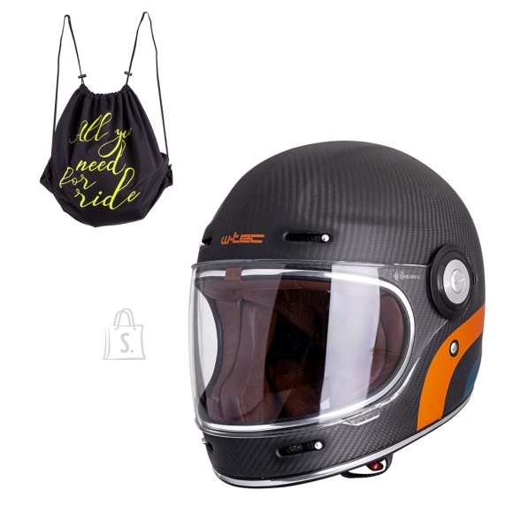 W-Tec Motorcycle Helmet W-TEC Matt Carbon - XL (61-62)