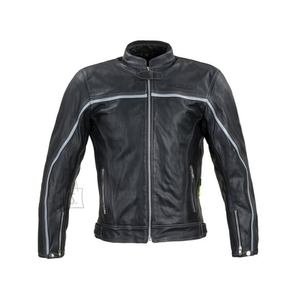 W-Tec Leather Motorcycle Jacket W-TEC Mathal - Black 4XL