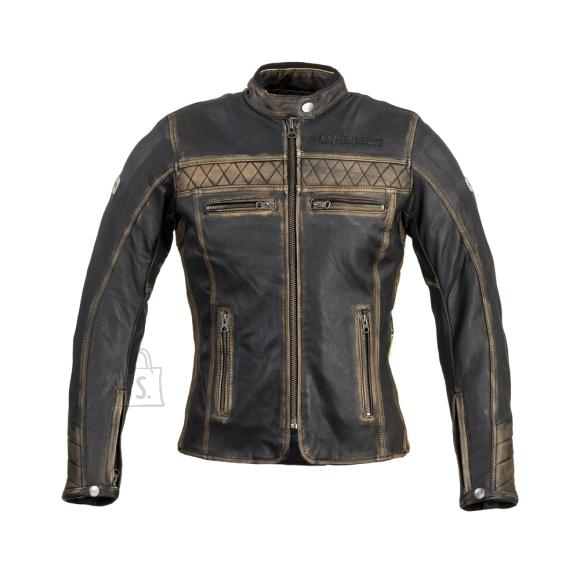 W-Tec Women???s Leather Motorcycle Jacket W-TEC Kusniqua - Vintage Brown S