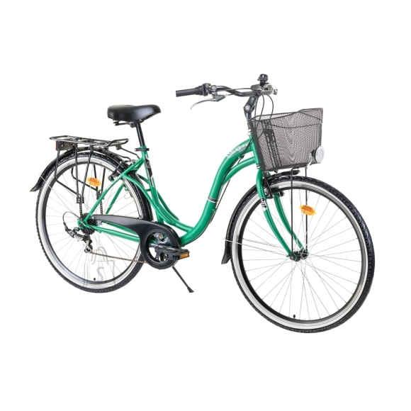 """Reactor <p style=""""text-align: justify;"""">The??<strong>Urban Bike Reactor Swan 28??? ??? 2021??</strong>is a comfortable modern bike with??<strong>6 speeds</strong>, large??<strong>28??? wheels</strong>??and a durable??<strong>19??? steel frame</strong>.??The sturdy construction, number of features and high-quality components make the Reactor Swan bike suitable for in-town riding ??? shopping and/or rides to your garden. The low tube frame allows for easy get on/off, making this bike suitable for seniors and those with reduced mobility. The plastic chain guard provides safety during the ride. You may also appreciate the steel kickstand and comfortable seat. Moreover, this bike also features a bell that will come in handy in city traffic.??Last but not least, the??<strong>Urban Bike Reactor Swan 28??? ??? 2021??</strong>features a rear rack, a basket and reflectors. The excellent price/performance ratio makes this bike??perfect??for undemanding in-town riding.</p><br/><p><strong>Technical description:</strong></p><br /> <table width=""""537"""" border=""""1"""" cellspacing=""""0"""" cellpadding=""""0""""><br /> <tbody><br /> <tr><br /> <td><br /> <p><strong>Frame</strong></p><br /> </td><br /> <td valign=""""top"""" width=""""382""""><br /> <p>steel</p><br /> </td><br /> </tr><br /> <tr><br /> <td><br /> <p><strong>Frame size</strong></p><br /> </td><br /> <td valign=""""top"""" width=""""382""""><br /> <p>19""""</p><br /> </td><br /> </tr><br /> <tr><br /> <td><br /> <p><strong>Fork</strong></p><br /> </td><br /> <td valign=""""top"""" width=""""382""""><br /> <p>steel</p><br /> </td><br /> </tr><br /> <tr><br /> <td><br /> <p><strong>Number of speeds</strong></p><br /> </td><br /> <td valign=""""top"""" width=""""382""""><br /> <p>6</p><br /> </td><br /> </tr><br /> <tr><br /> <td><br /> <p><strong>Brakes</strong></p><br /> </td><br /> <td valign=""""top"""" width=""""382""""><br /> <p>V-Brakes</p><br /> </td><br /> </tr><br /> <tr><br /> <td><br /> <p><strong>Rear derailleur</strong></p><br /> </td><br /> <td valign=""""top"""" width=""""382""""><br /> <p>Shimano"""